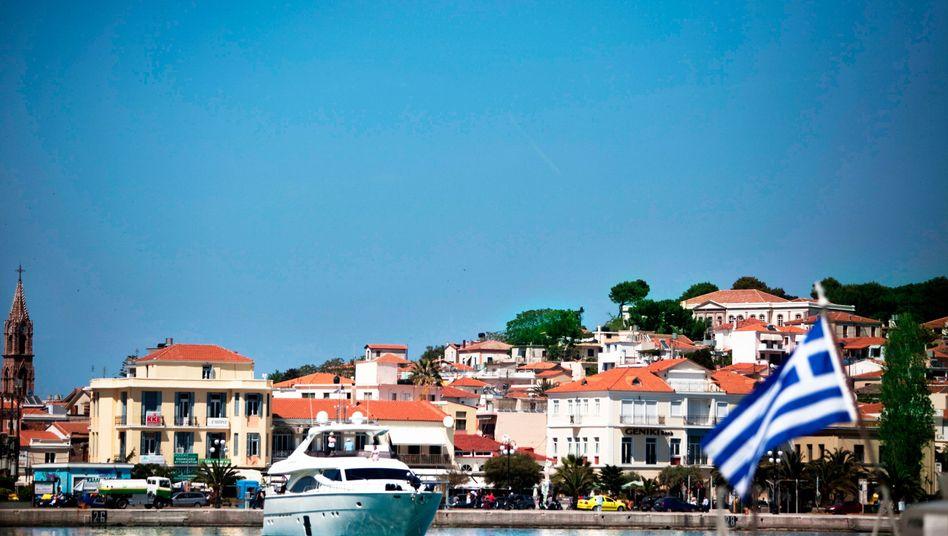 Jacht im Hafen von Lesbos: Gute Beziehungen zwischen den Eliten
