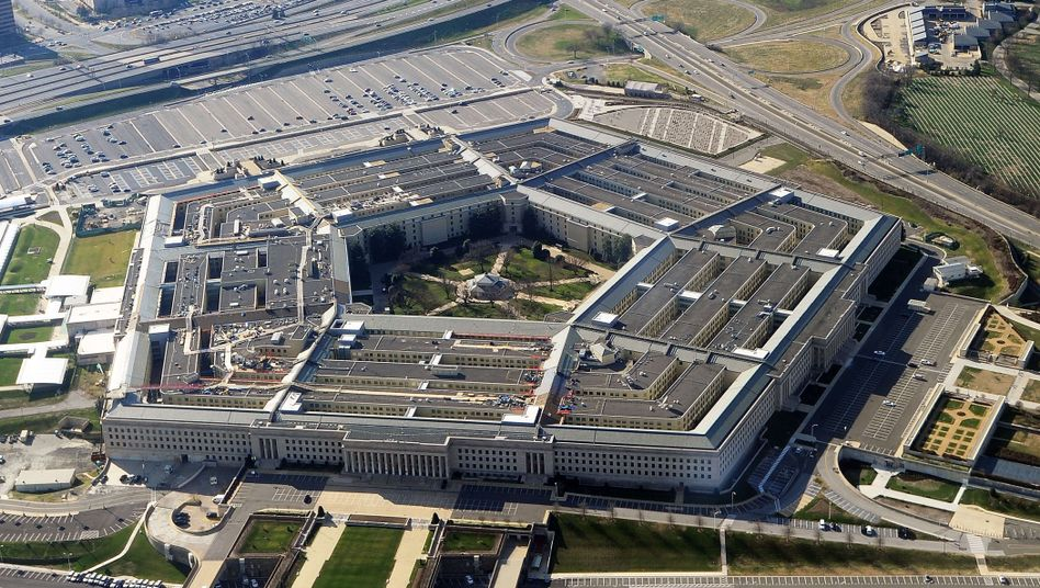 The Pentagon in Washington: A report claims that research conducted at a German university is supporting American drone programs.