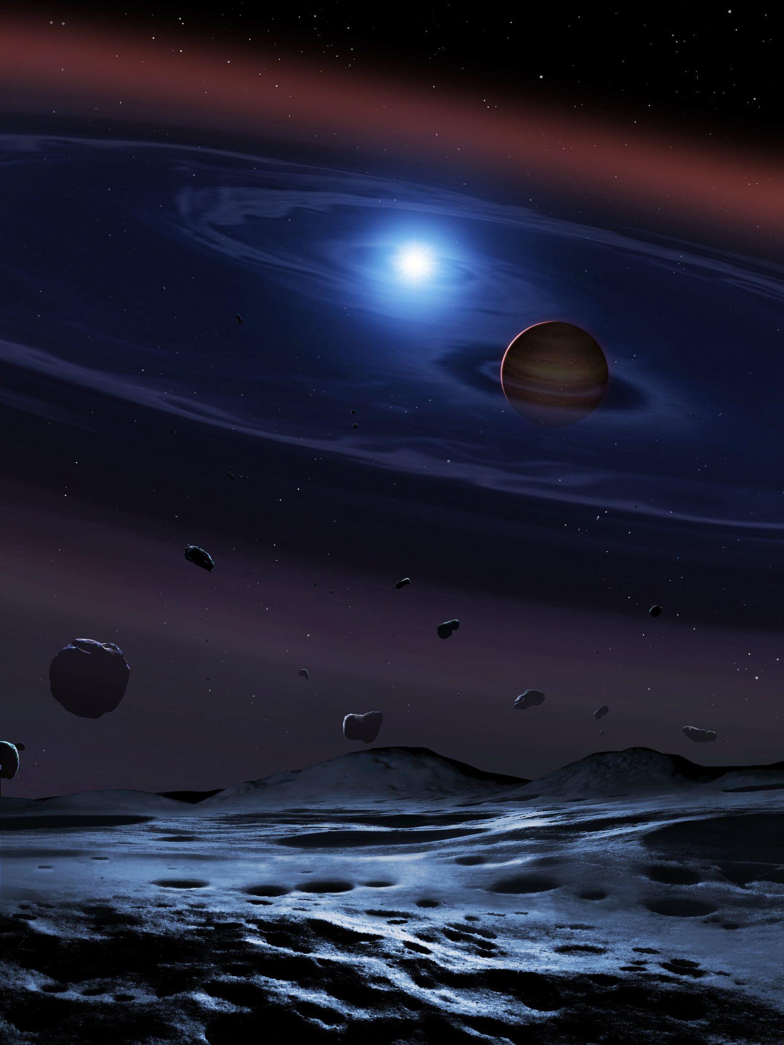 Asteroidentrümmer/ Doppelsternsystem