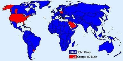 Der Beweis: Kerry hat gewonnen (im Web kursierendes Bild, Ursprung unbekannt)