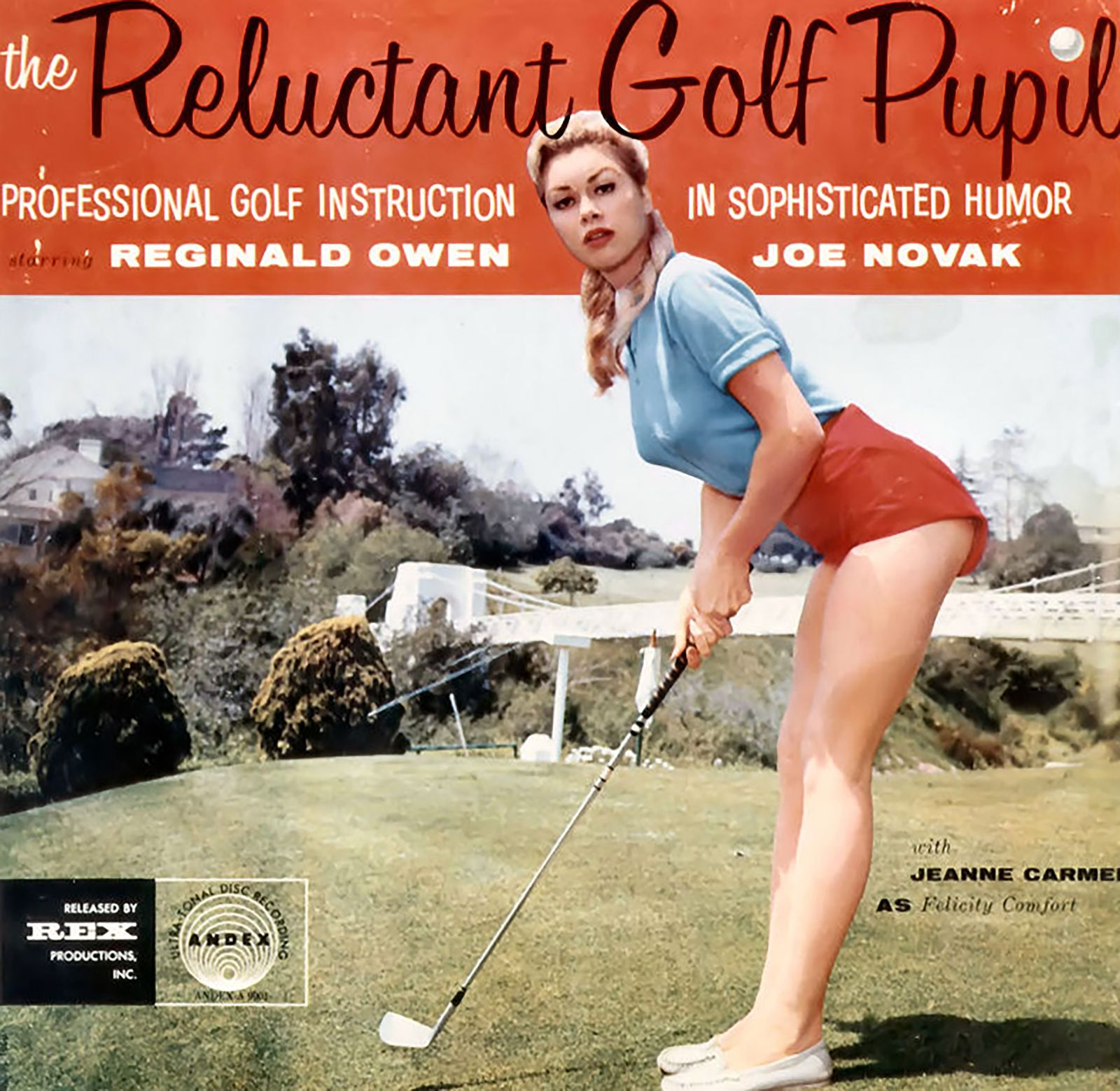 Jack Redmond - Jeanne Carmen golfing
