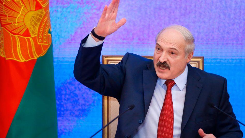 Der belarussische Machthaber Alexander Lukaschenko in Minsk (Archivbild)
