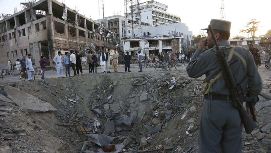 Ort der Bombenexplosion am 31.5.2017