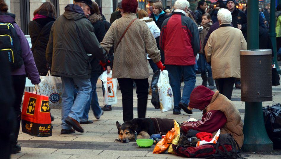 Obdachloser in Kassel