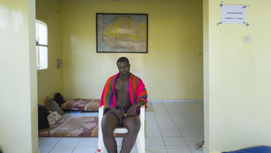 Gescheiterter Auswanderer Ndassie im Transitzentrum in Niamey