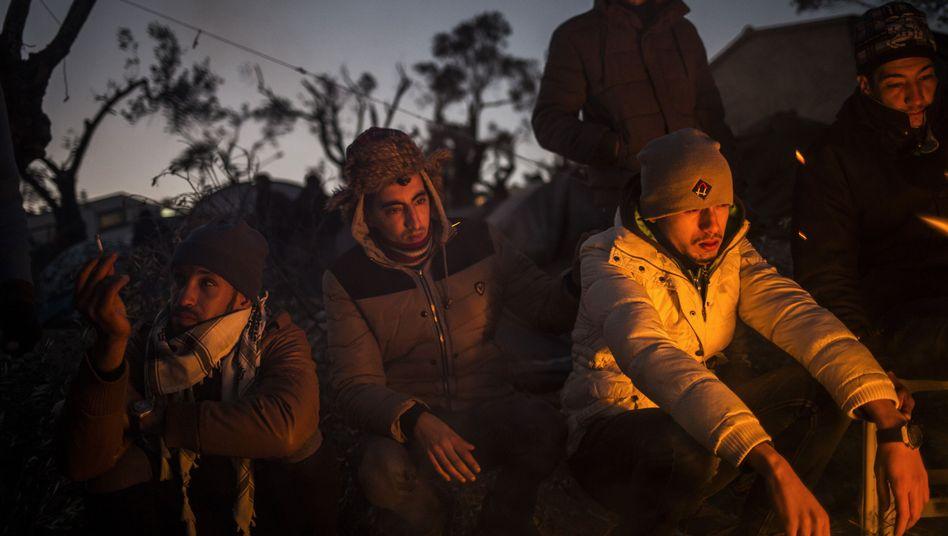 """Marokkanische Migranten auf der griechischen Insel Lesbos (Archiv): """"Asylfremde Motive"""""""