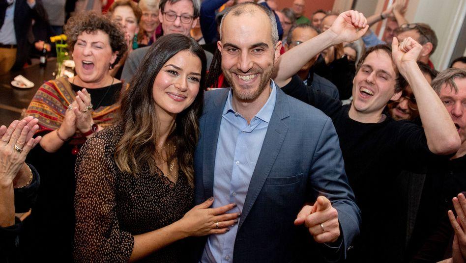 Belit Onay und Frau Derya: Freude nach Bekanntgabe der Wahlergebnisse