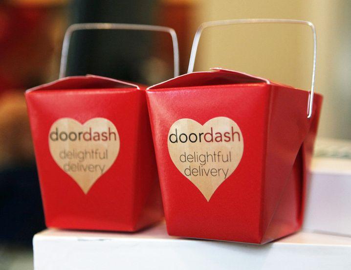 Essenstüten vom Lieferanten DoorDash (Archivbild): Geschätzter Wert bei fast 13 Milliarden Dollar