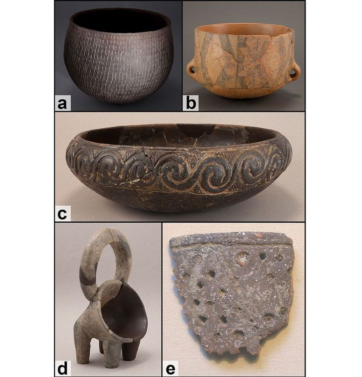 Examples of pottery types from the Dalmatian Neolithic.