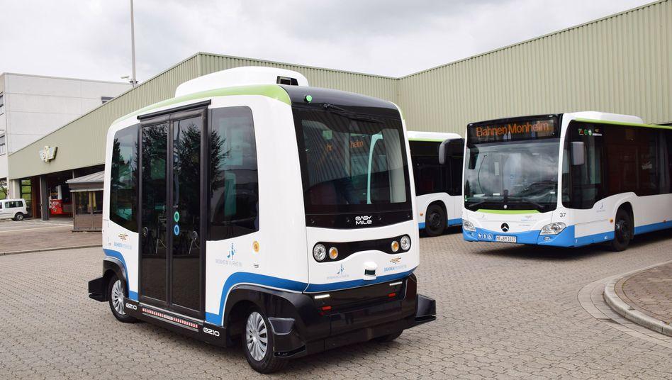 Autonomer Bus in Monheim: Sieht so das Fahrzeug der Zukunft aus?