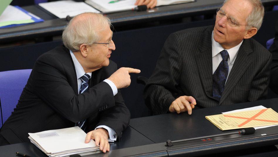 Politiker Brüderle, Schäuble: Mögliches Referendum zur EU