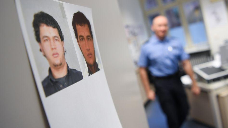 Fahndungsfotos des Terrorverdächtigen Anis Amri
