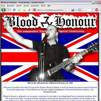 Neonazi-Netzwerk Blood and Honour: Mitgliedsdaten im Web veröffentlicht