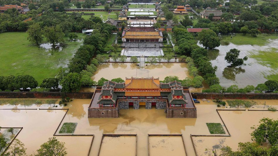 Die Zitadelle von Hue war ebenfalls von den Überschwemmungen betroffen