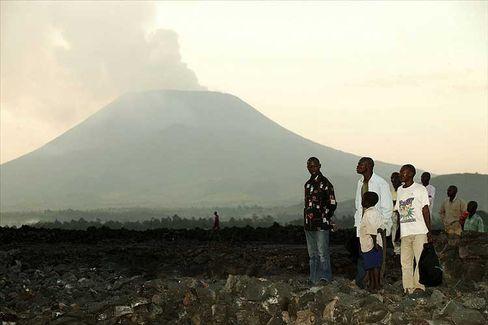 Nyiragongo-Vulkan (Kongo): Lavamassen auf die Stadt Goma