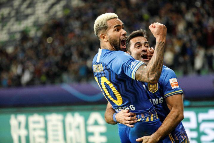 Alex Teixeira feiert für Jiangsu – vielleicht als einer der Letzten für den Klub