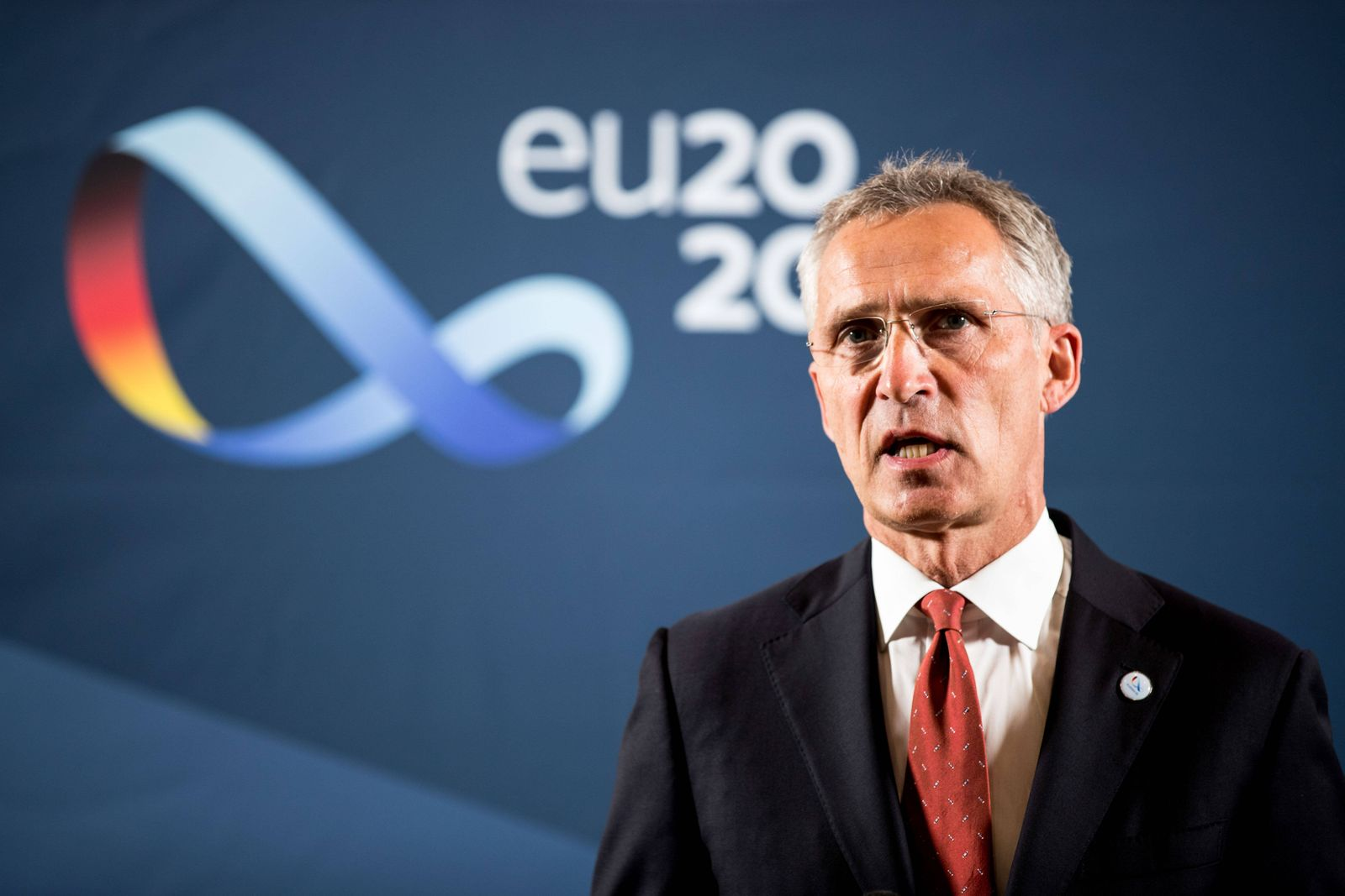 (200827) -- BERLIN, Aug. 27, 2020 -- The North Atlantic Treaty Organization (NATO) Secretary General Jens Stoltenberg d