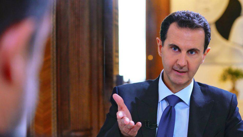 Ist seit zehn Jahren im Krieg gegen sein eigenes Volk: Syriens Diktator Baschar al-Assad