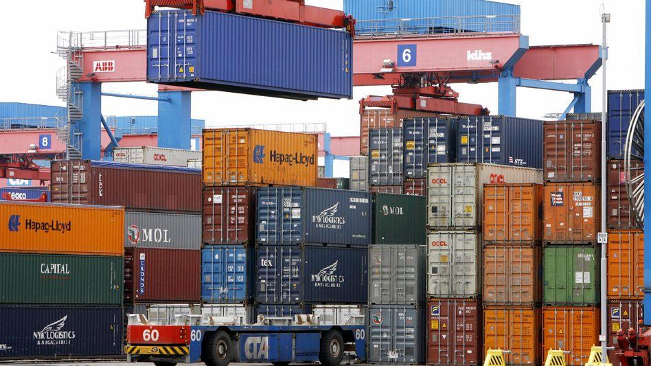 Container am Hamburger Hafen: Der Großteil der Exporte geht in andere EU-Länder