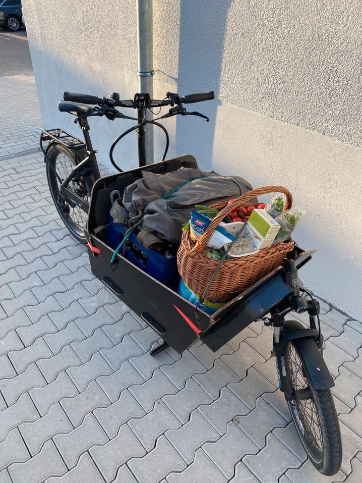 Wocheneinkauf im Lastenrad
