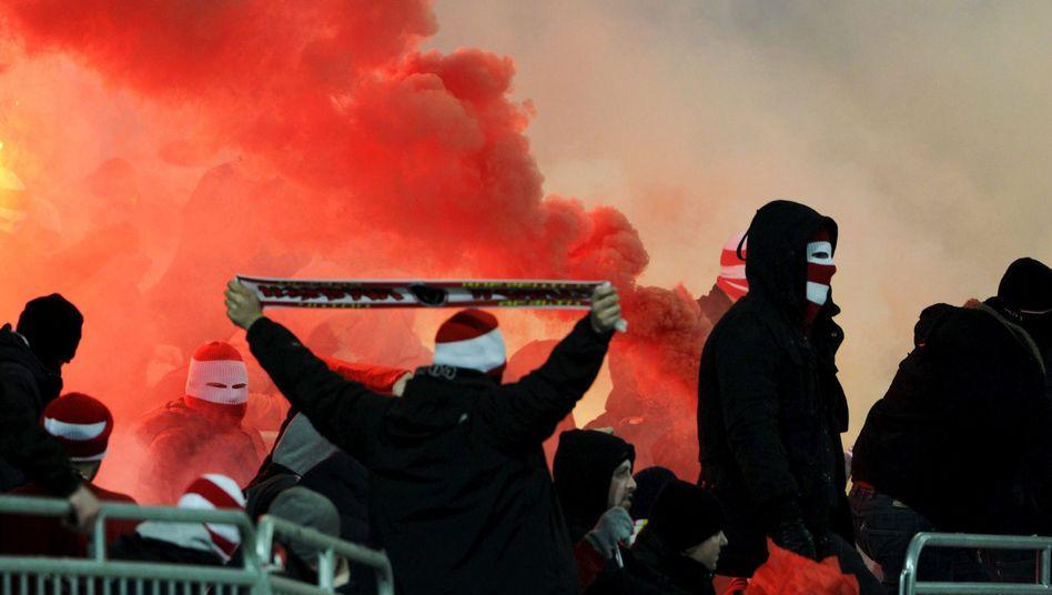 Union-Fans beim Spiel gegen Djurgården: Abbruch in der 73. Minute