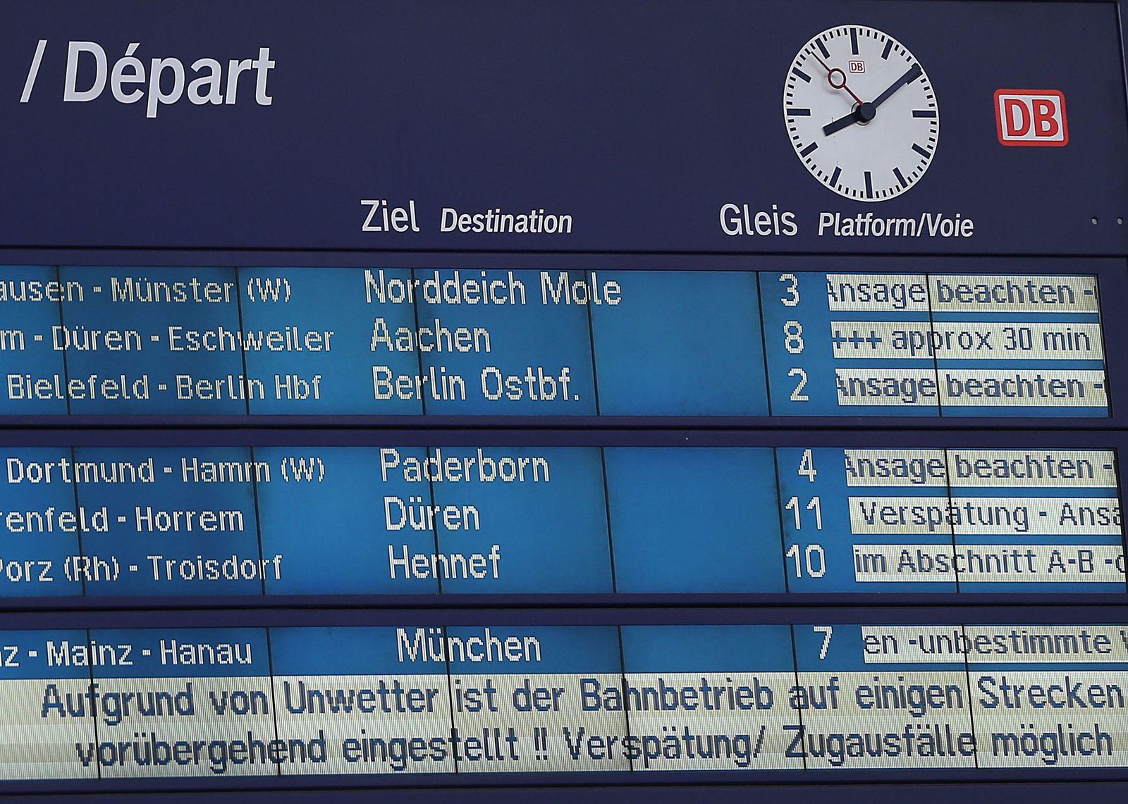 Bahn / Unwetter / Köln