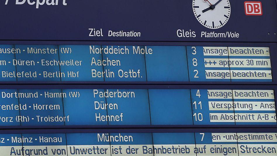Verspätungsanzeige in Köln: Auch bei Unwettern gibt es Geld
