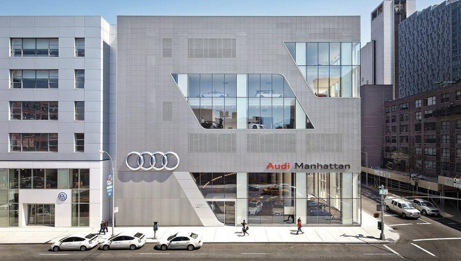 Audi-Verkaufsräume in New York: »In den USA höchst kritisch«