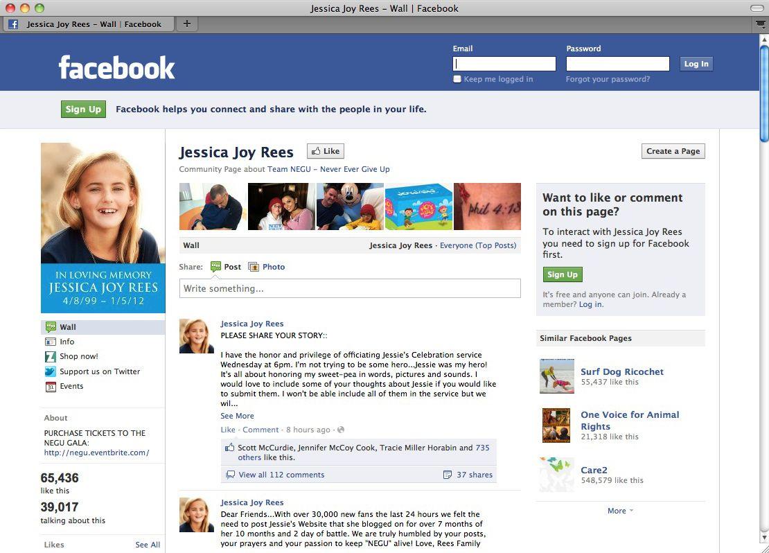 EINMALIGE VERWENDUNG Screenshot / Facebook / Jessica Joy Rees