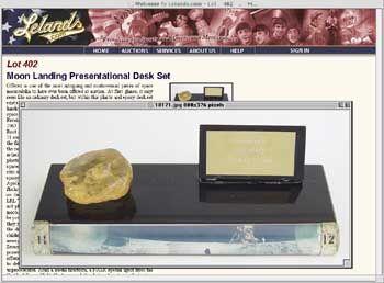 Mondgestein-Auktion: 50.000 Dollar Mindestgebot