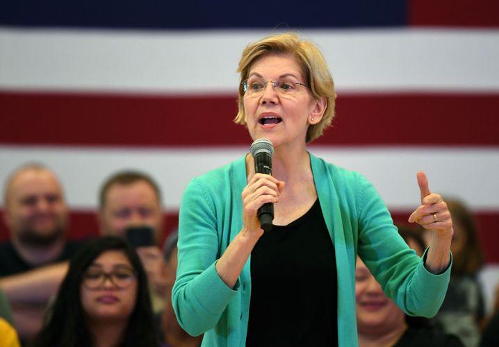 Elizabeth Warren, derzeit wohl Sanders' größte Konkurrentin