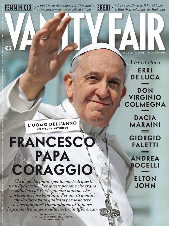 """Mann des Jahres: Papst Franziskus auf dem Cover der """"Vanity Fair"""""""