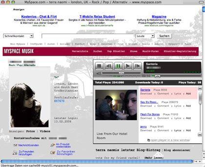 MySpace-Nutzerin: Gut 50 Prozent der Online-Aktivitäten sind überflüssig