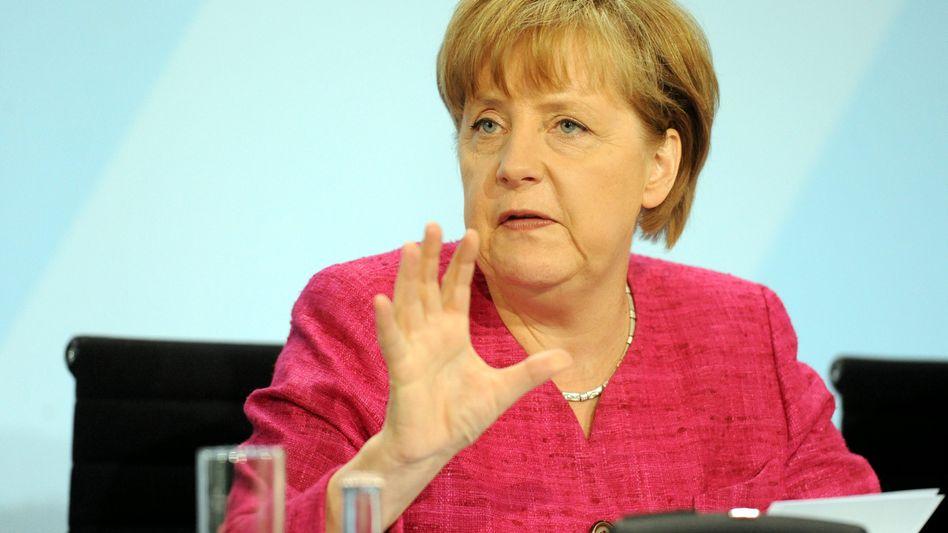 """Kanzlerin Merkel: """"Das geht auf Dauer nicht zusammen"""""""