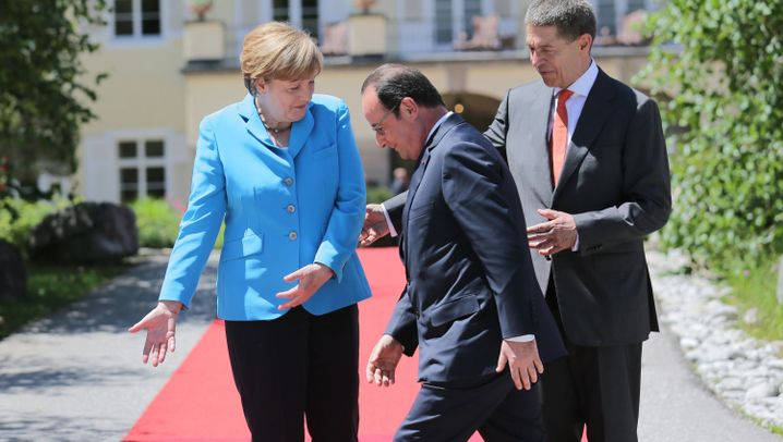 Merkel und Obama ganz harmonisch: Die G7-Gaudi