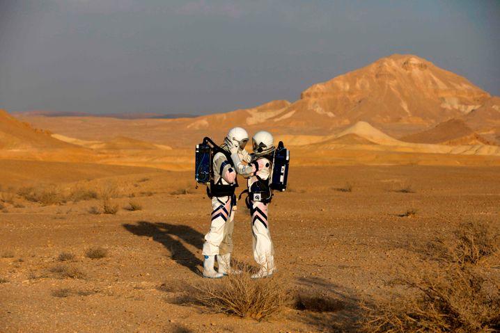 Simulation einer Mars-Mission bei Mitzpe Ramon