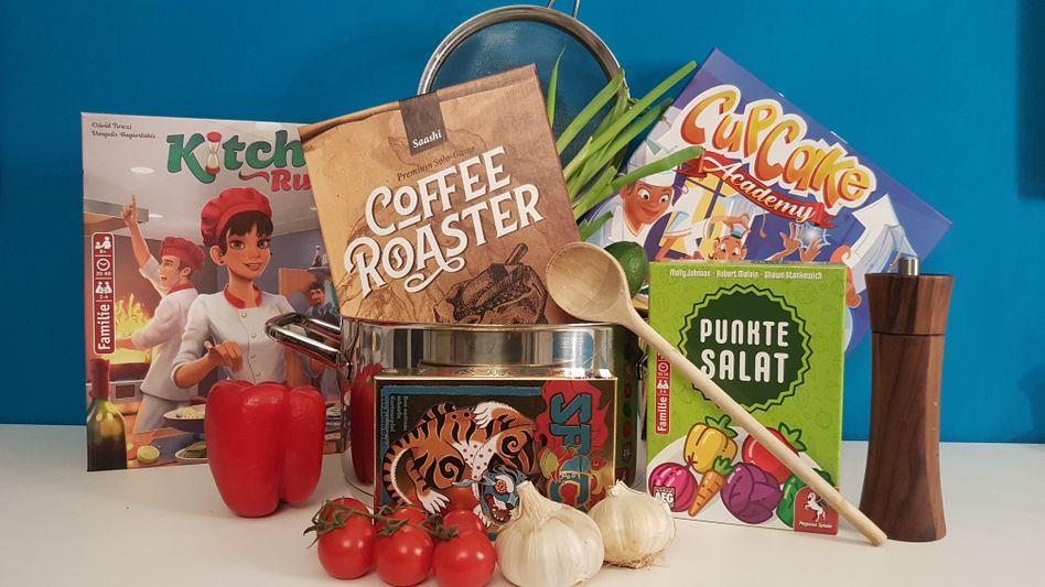 Diese Spiele haben wir getestet: »Spicy«, »Kitchen Rush«, »Cupcake Academy«, »Coffee Roaster« und »Punktesalat«