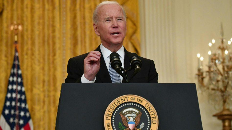US-Präsident Joe Biden: »Wir wissen, dass Amerika nie ganz sicher sein wird, bis die Pandemie, die weltweit wütet, unter Kontrolle ist«