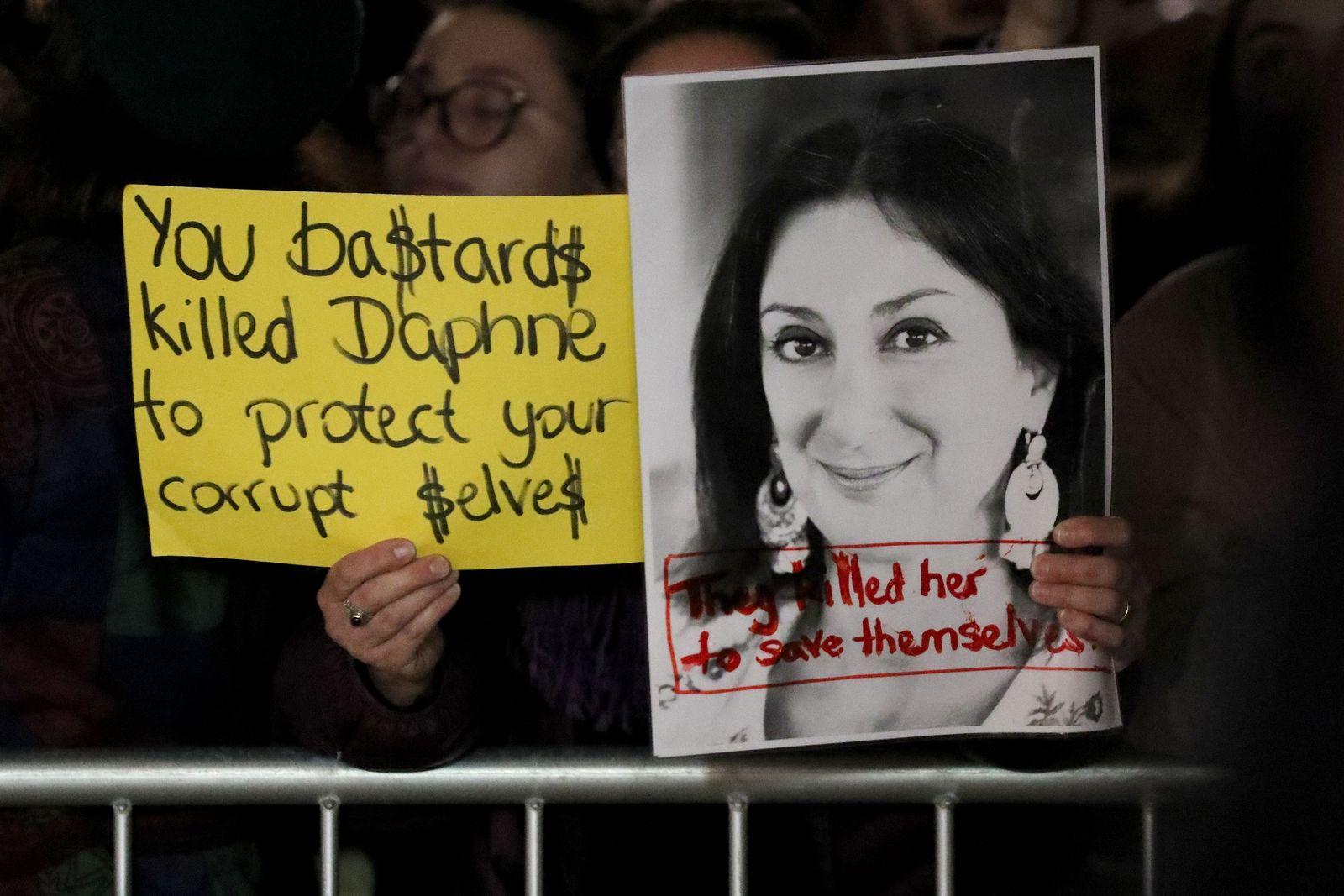 Demo vor dem Parlament in Malta / Daphne Caruana Galizia