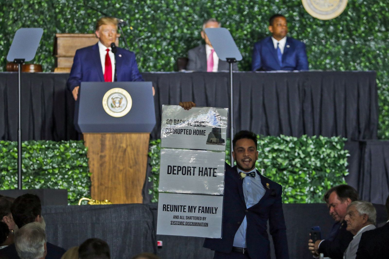 Trump-Rede unterbrochen