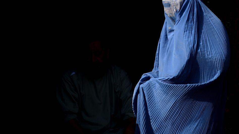 Burka-Trägerin