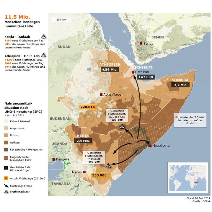 Grafik: Hungersnot in Somalia