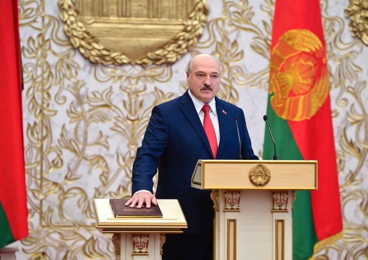 Hielt die Vereidigung ohne Vorankündigung ab: Belarus' Staatschef Alexander Lukaschenko