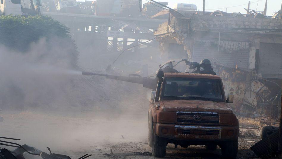 Kämpfer der Freien Syrischen Armee in Aleppo