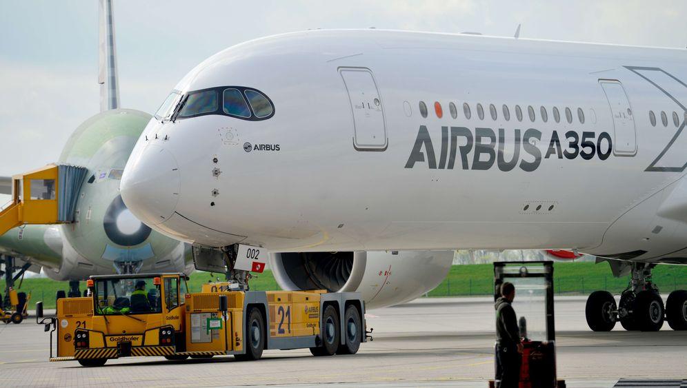 Airbus-A350-Kabinen: Geräumige Sitze und LED-Beleuchtung