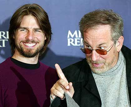 Regisseur Spielberg (r.), Darsteller Cruise: Mangel an sadistischer Konsequenz