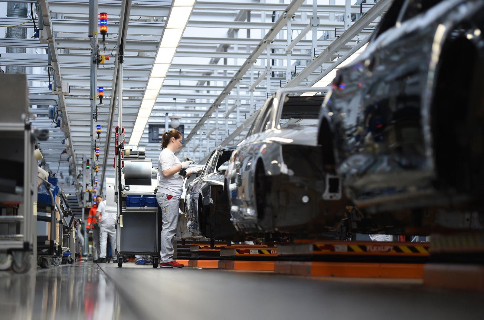 Audi Automobile Production At Ingolstadt Plant