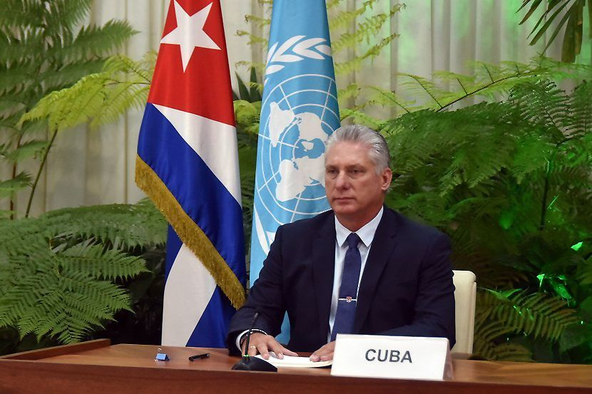 Cuban President Diaz-Canel addresses the 75th United Nations General Assembly, Havana, Cuba - 22 Sep 2020