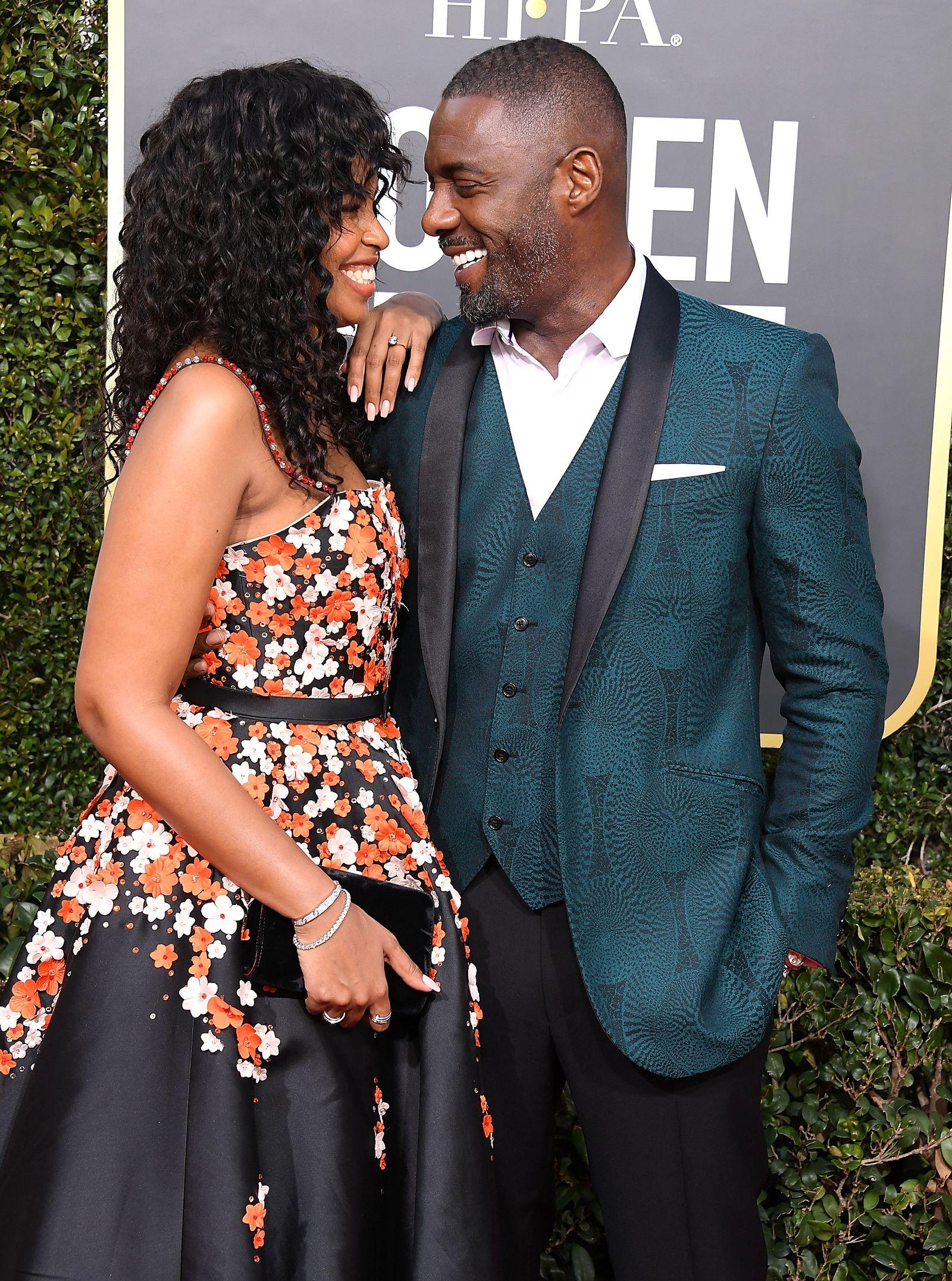 EINMALIGE VERWENDUNG Idris Elba und Sabrina Dhowre