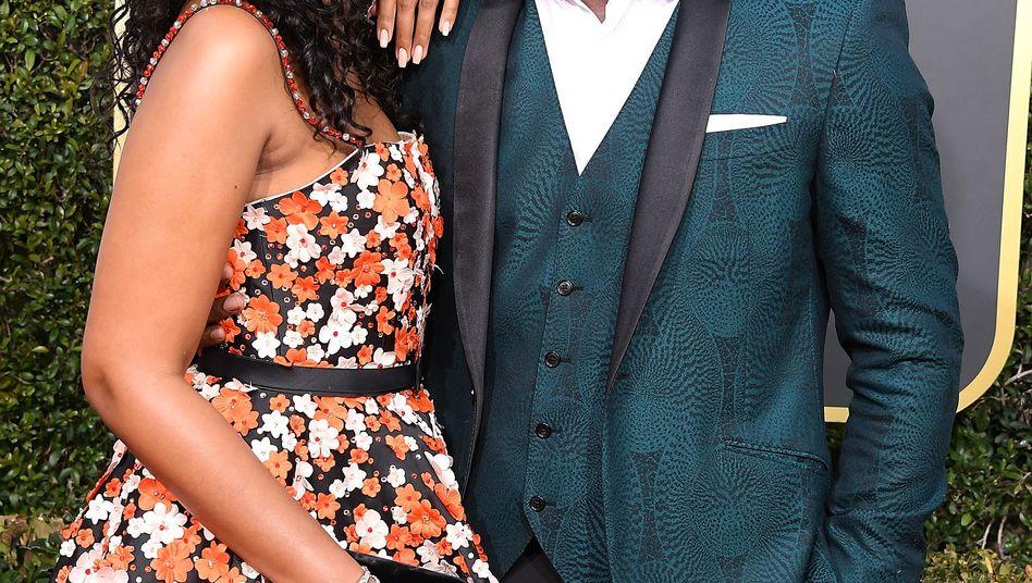 Idris Elba und Sabrina Dhowre im Januar in Beverly Hills